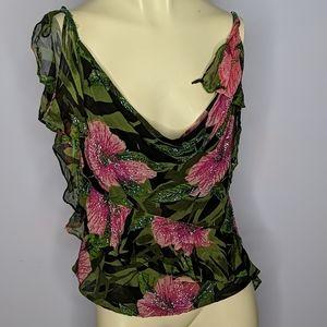 Vintage sequin beaded top